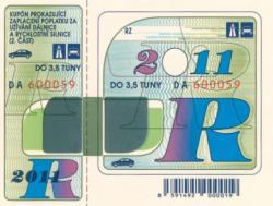 Opłaty za autostrady wCzechach na rok 2011